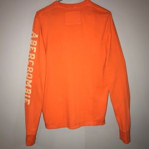 Abercrombie & Fitch Muscle T-Shirt Orange Large